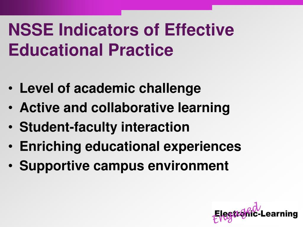 NSSE Indicators of Effective Educational Practice