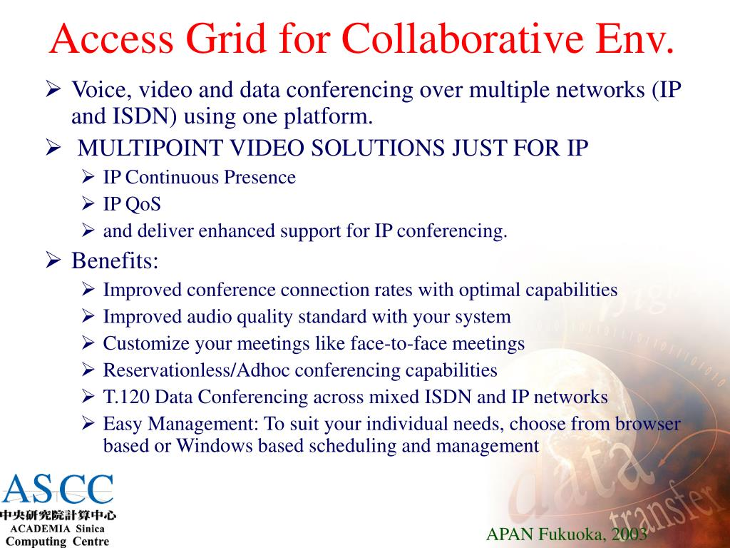 Access Grid for Collaborative Env.
