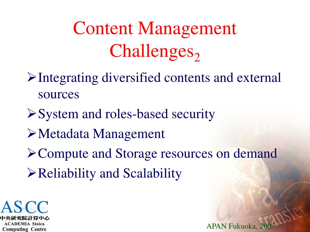 Content Management Challenges