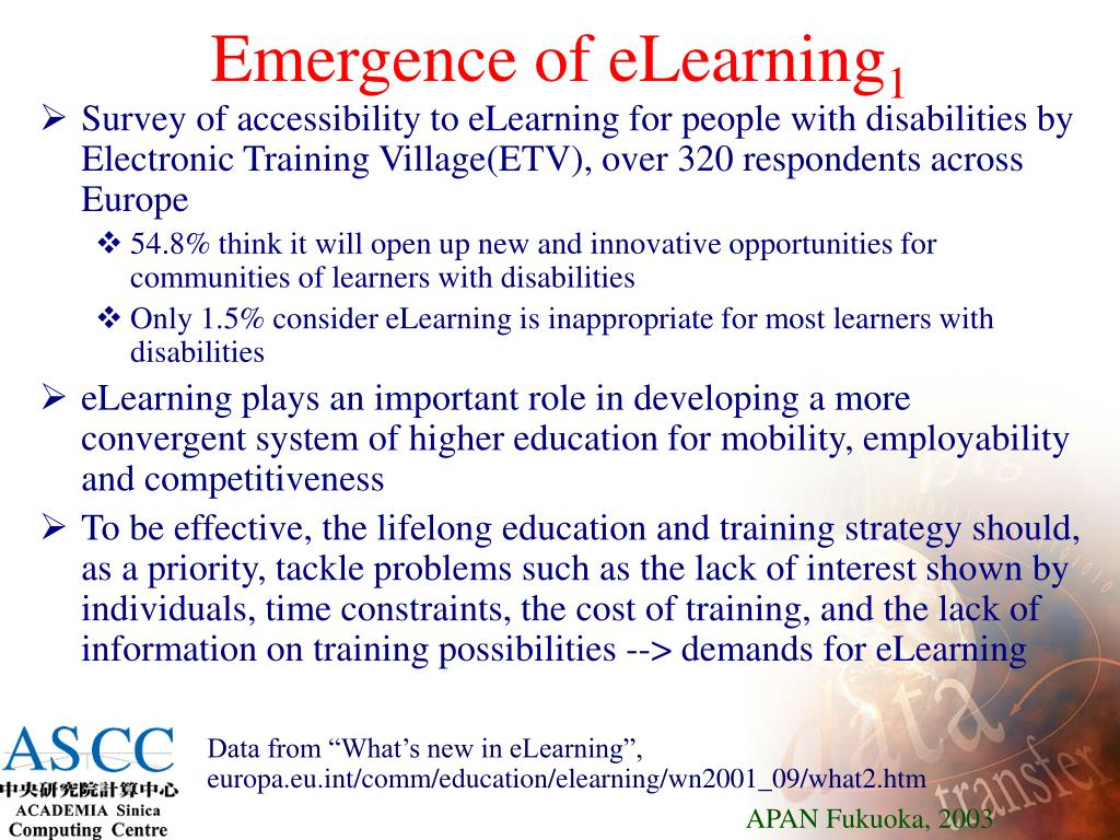Emergence of eLearning
