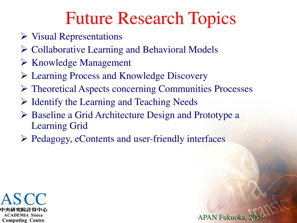 Future Research Topics