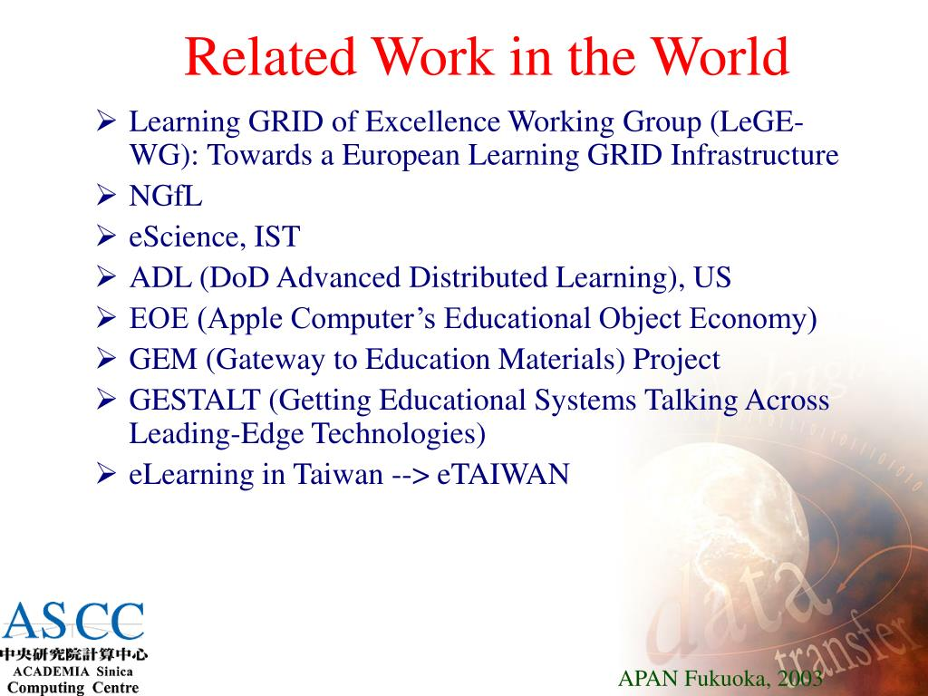 Related Work in the World