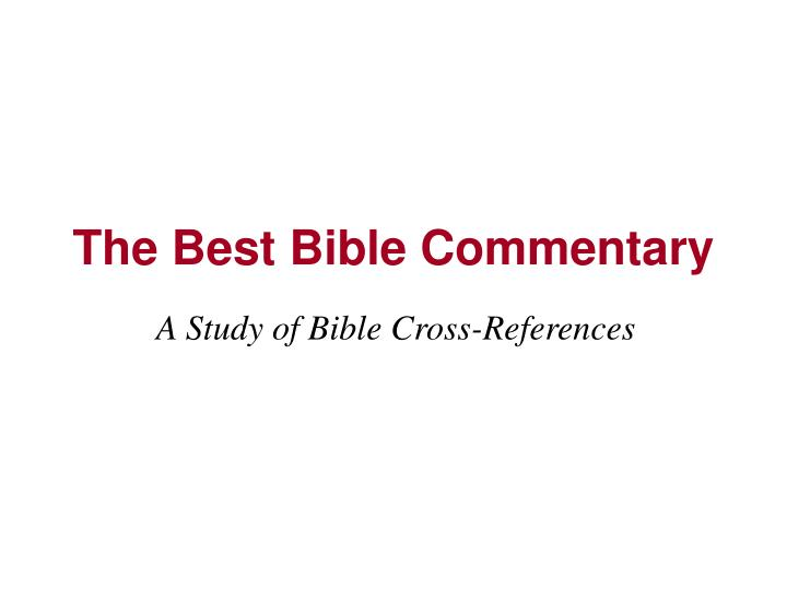 The best bible commentary l.jpg