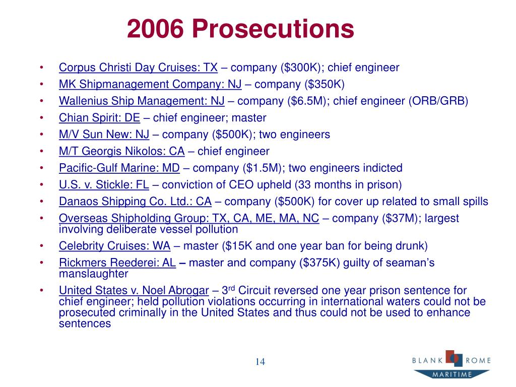 2006 Prosecutions