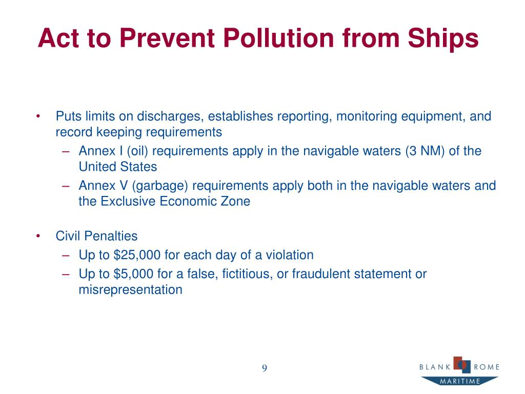 Act to Prevent Pollution from Ships