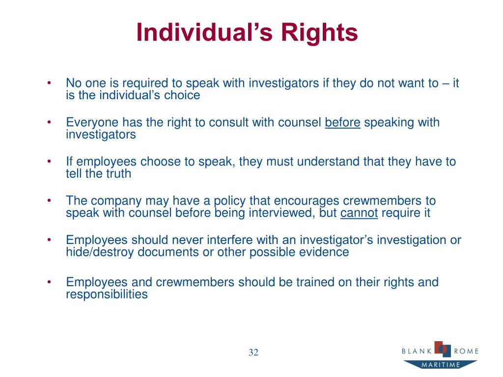 Individual's Rights