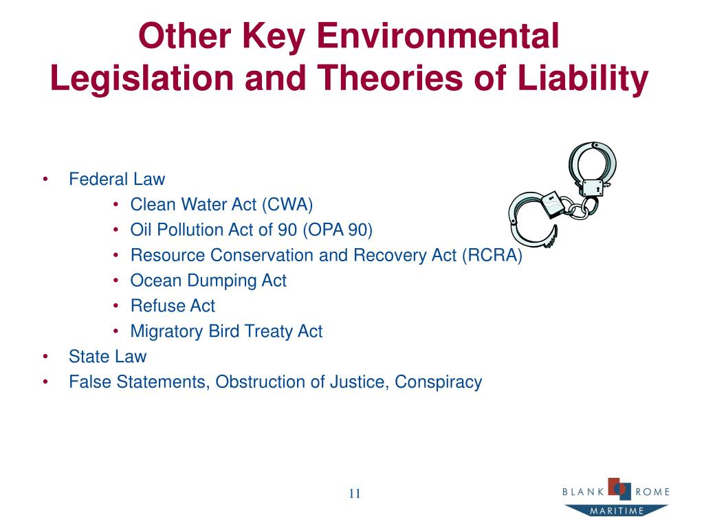 Other Key Environmental Legislation and Theories of Liability