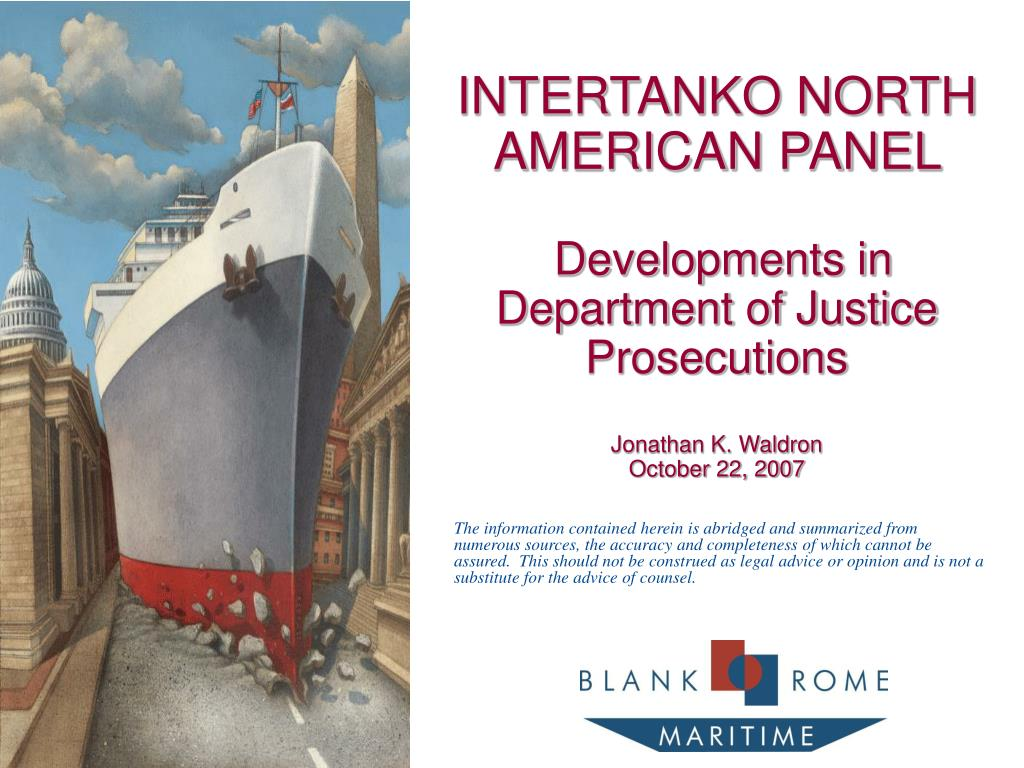 INTERTANKO NORTH AMERICAN PANEL