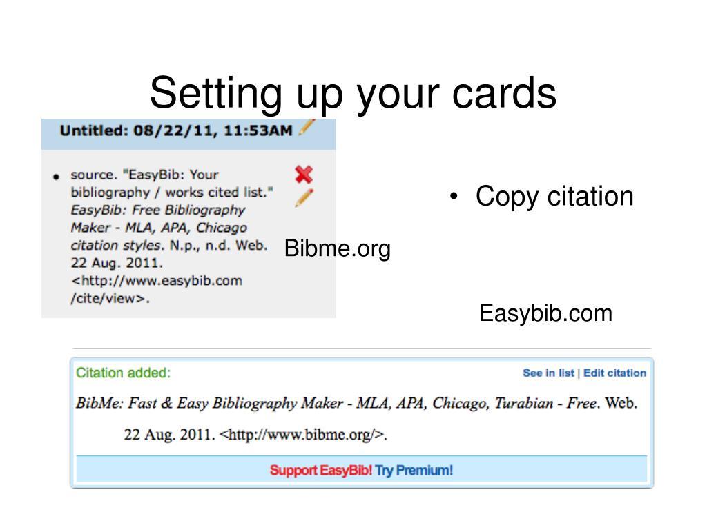 Online bibliography maker