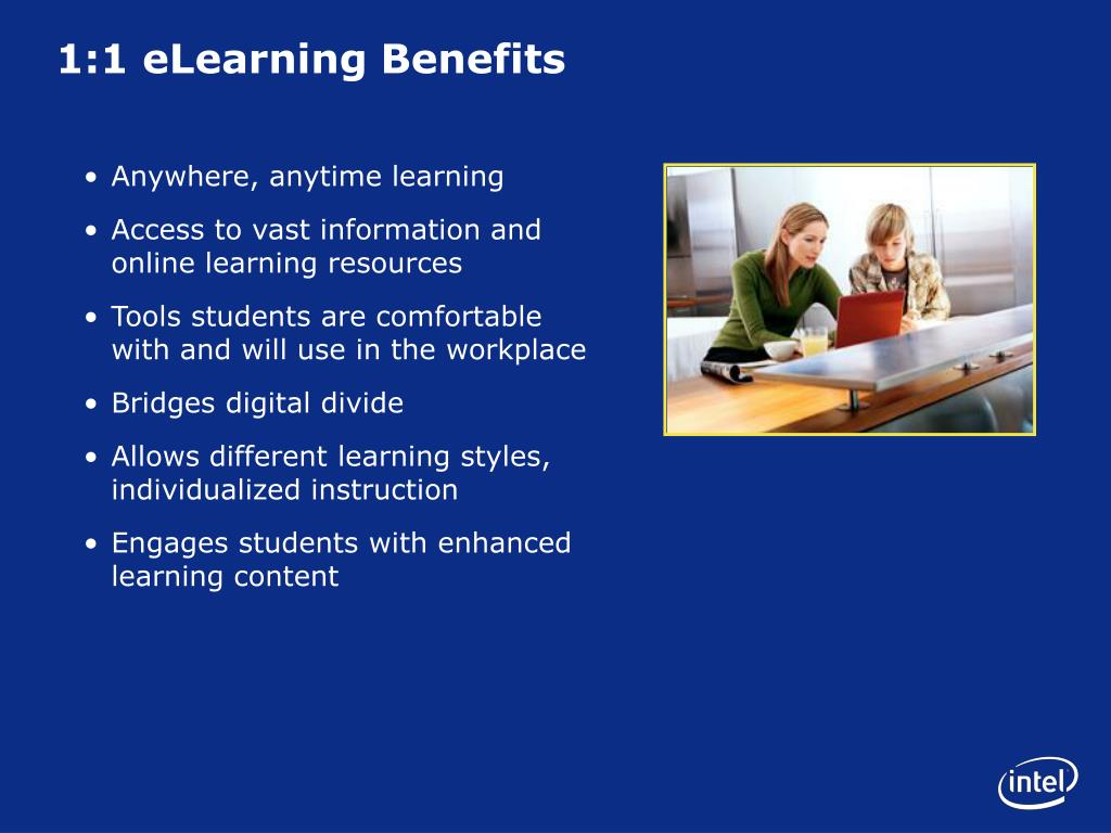 1:1 eLearning Benefits