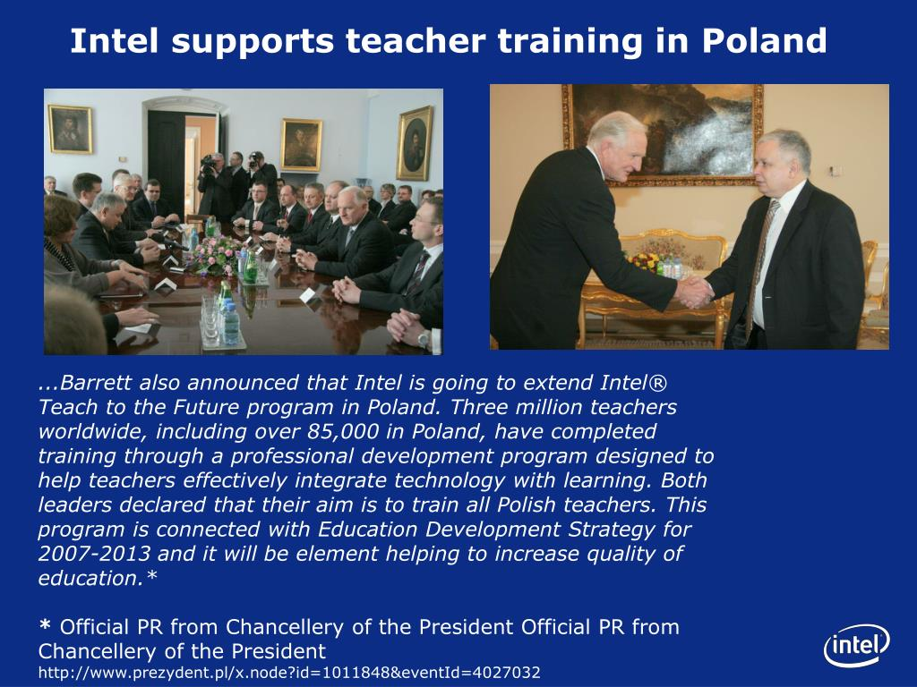 Intel supports teacher training in Poland