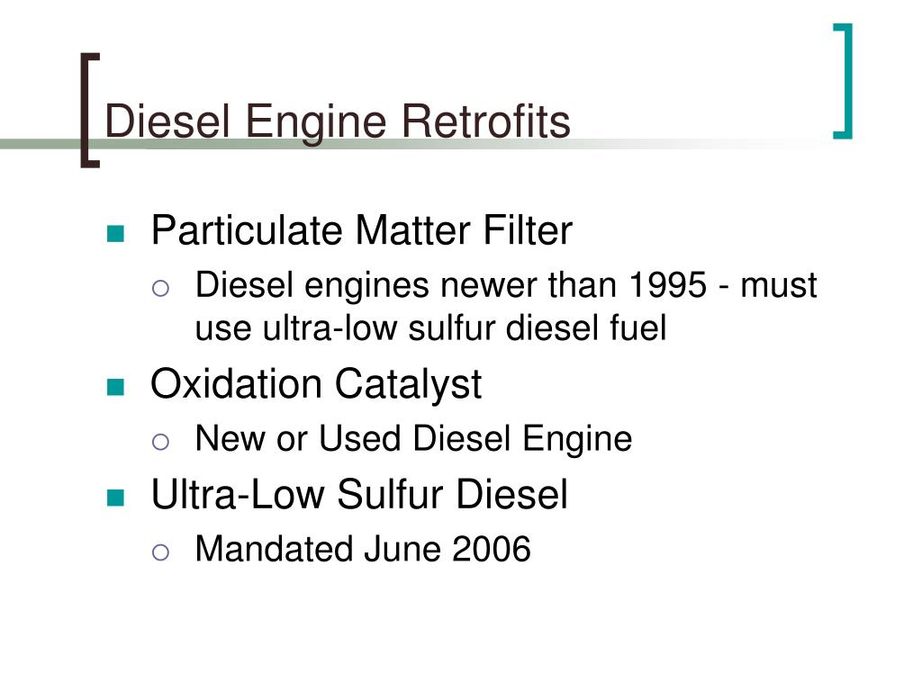 Diesel Engine Retrofits