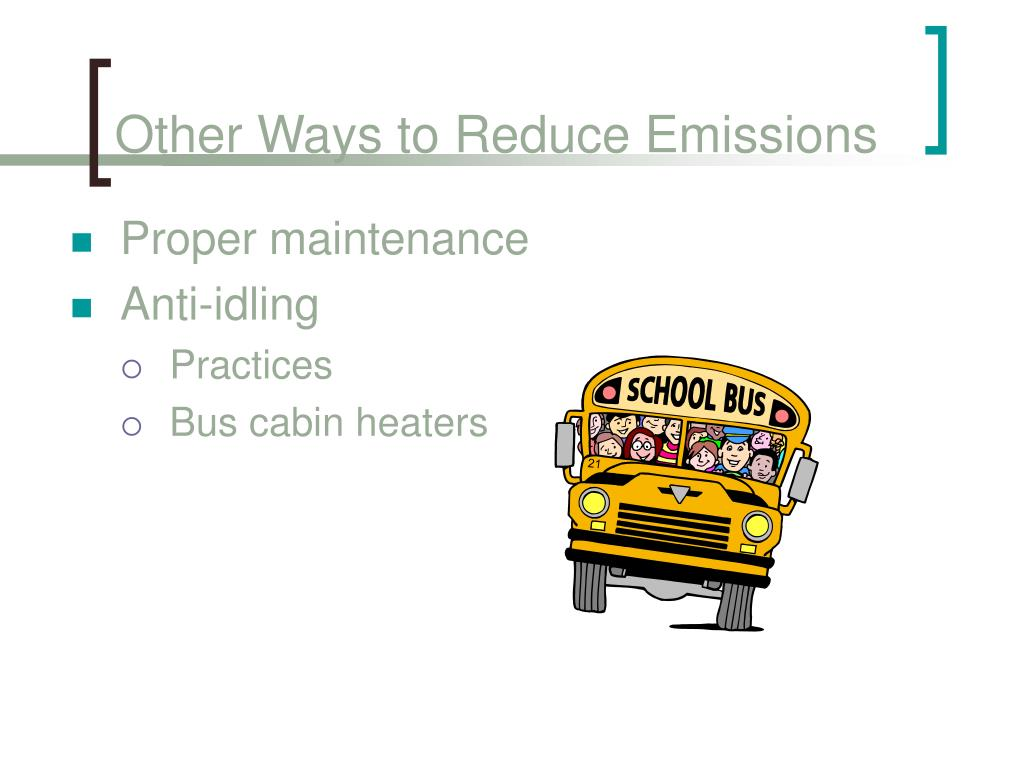 Other Ways to Reduce Emissions