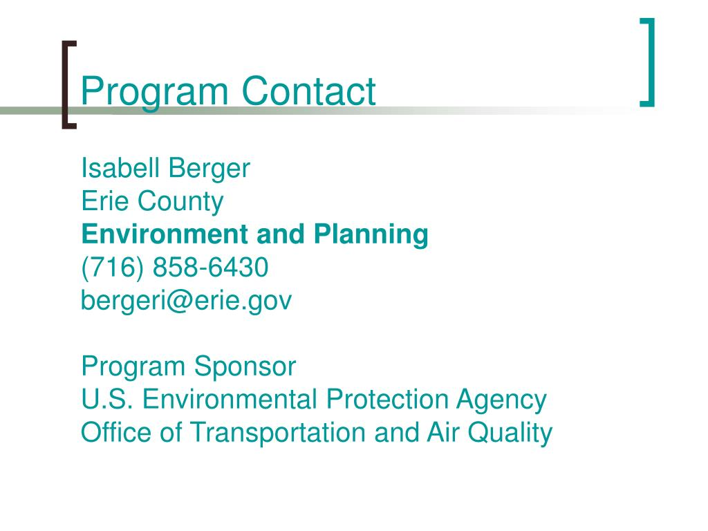 Program Contact
