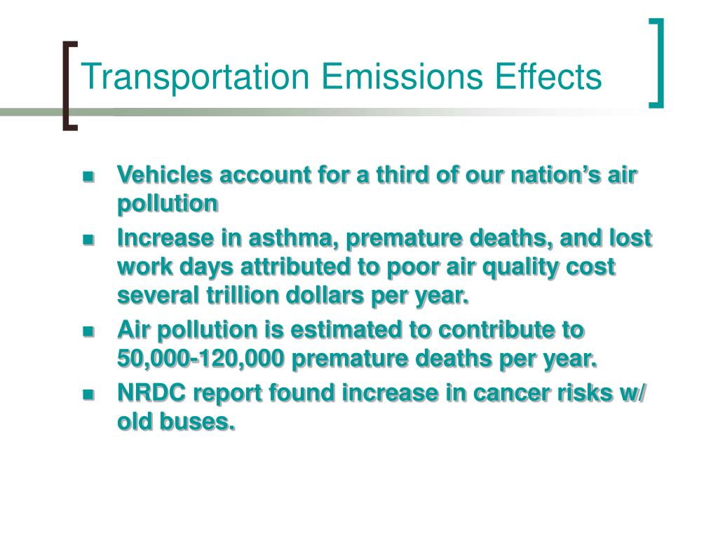 Transportation Emissions Effects