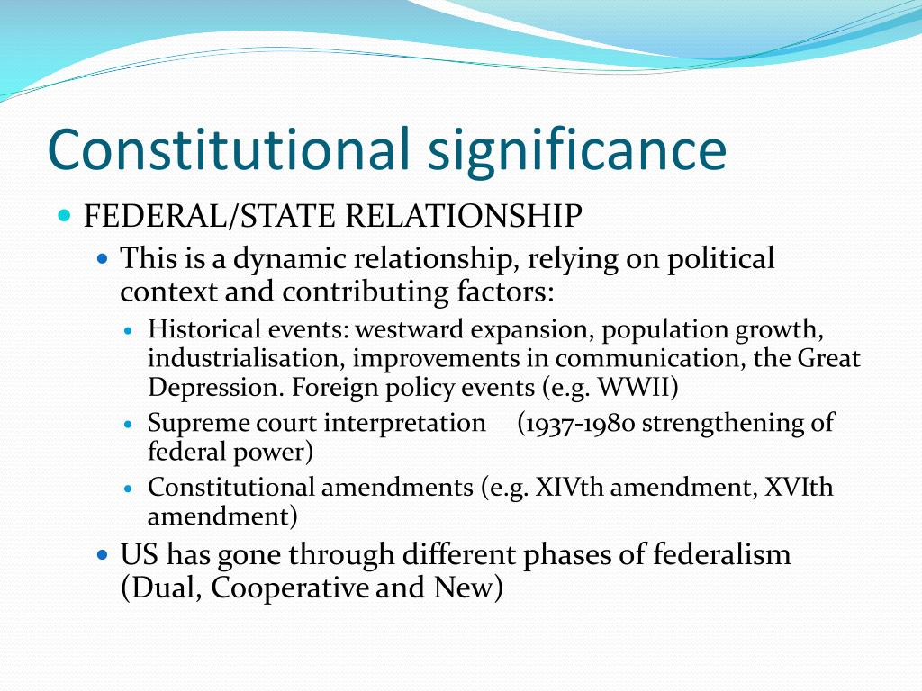 Constitutional significance