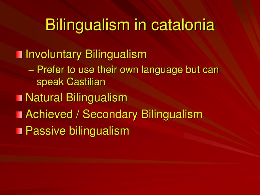 Bilingualism in catalonia