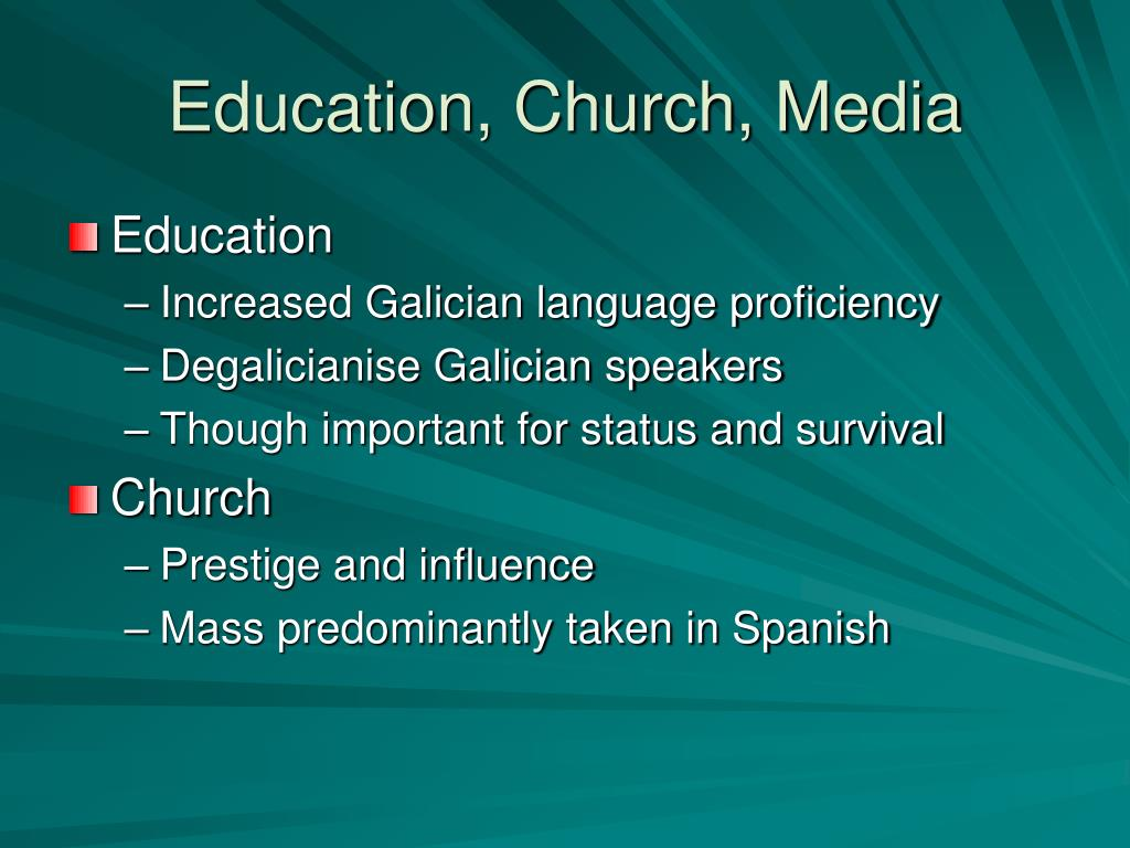 Education, Church, Media