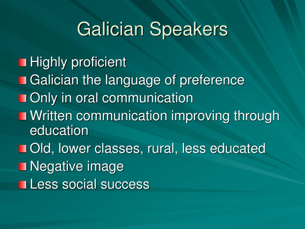 Galician Speakers