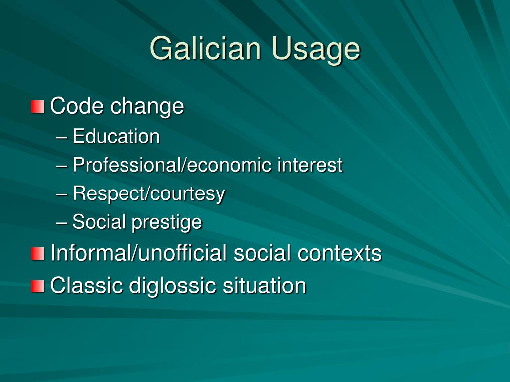 Galician Usage