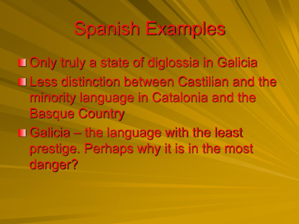 Spanish Examples