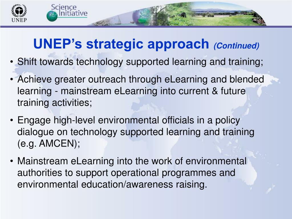 UNEP's strategic approach