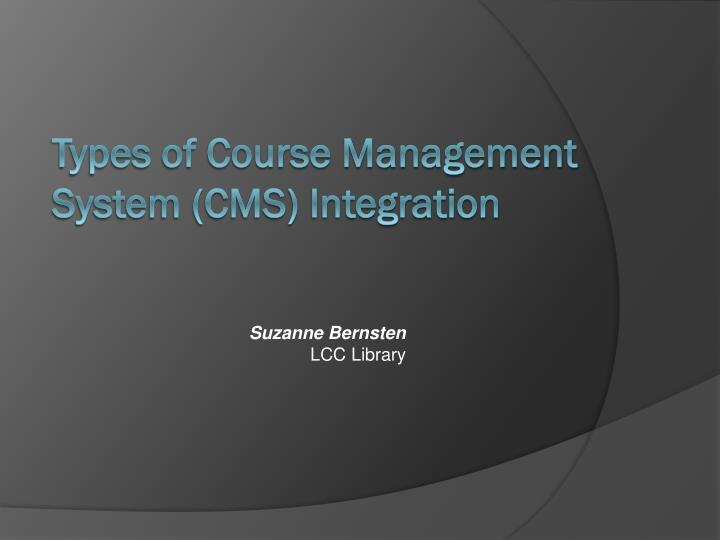 Types of course management system cms integration