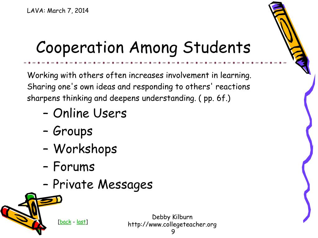 Cooperation Among Students