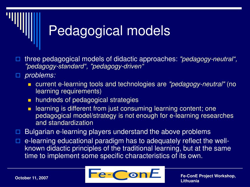 Pedagogical models