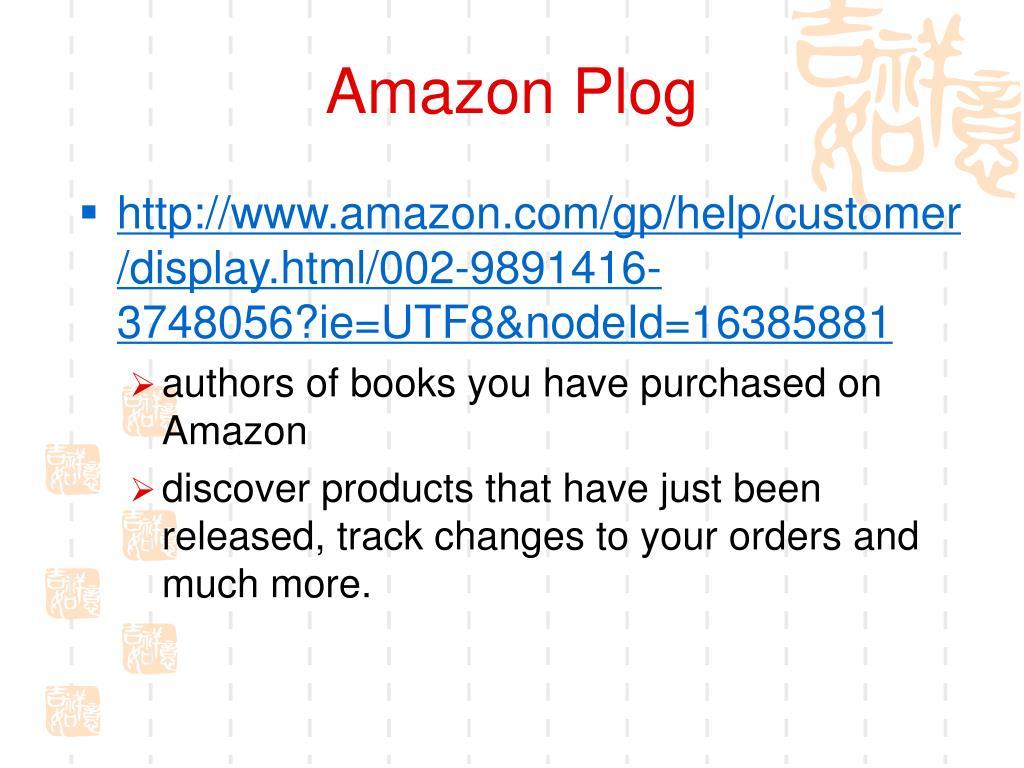 Amazon Plog