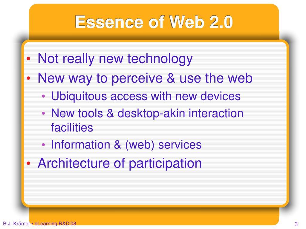 Essence of Web 2.0