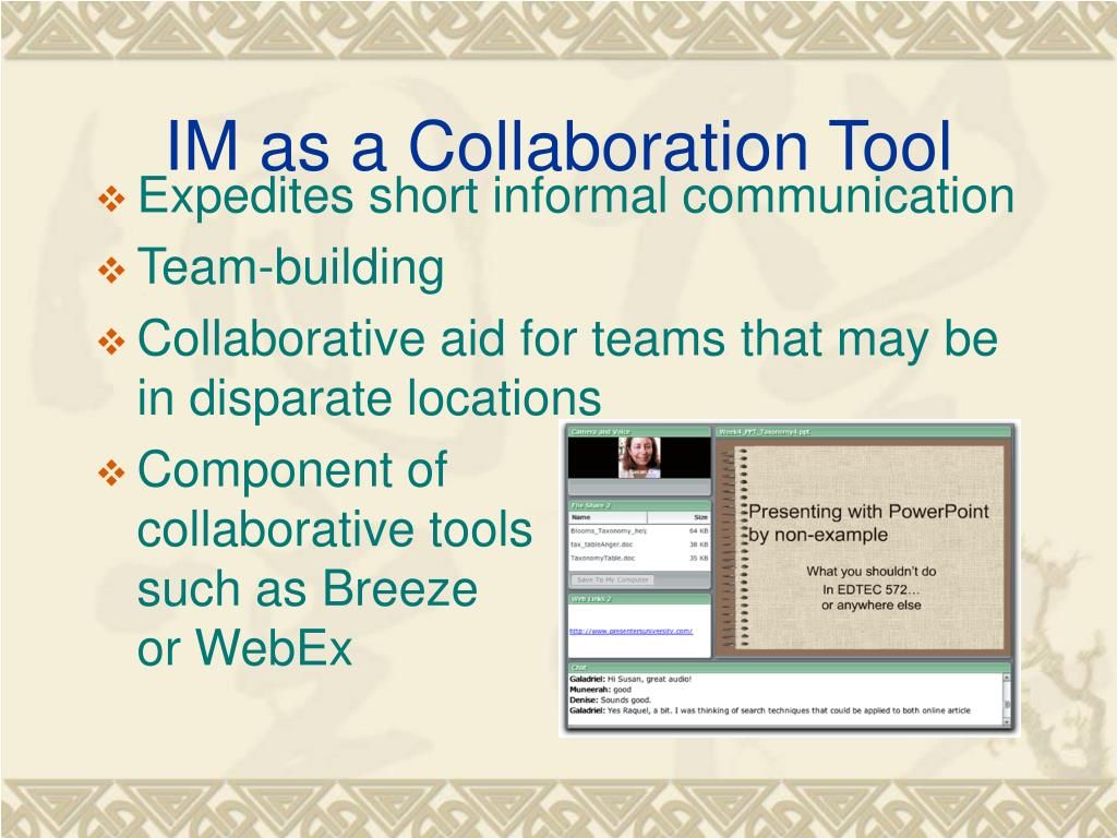IM as a Collaboration Tool