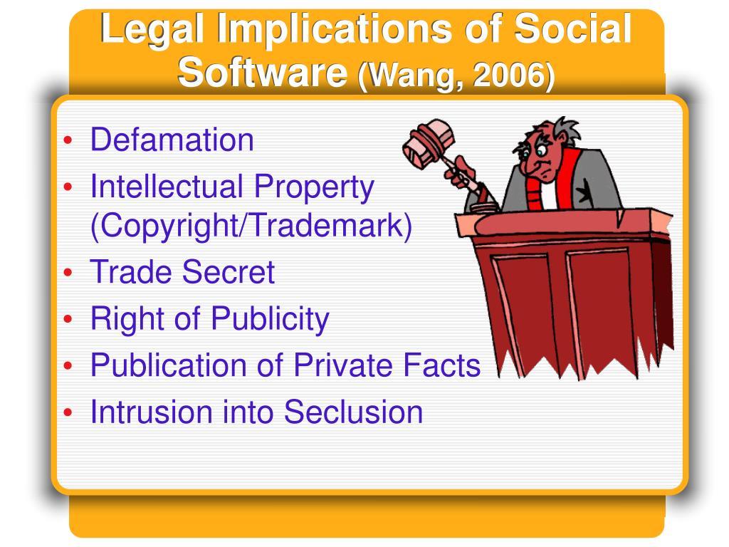 Legal Implications of Social Software