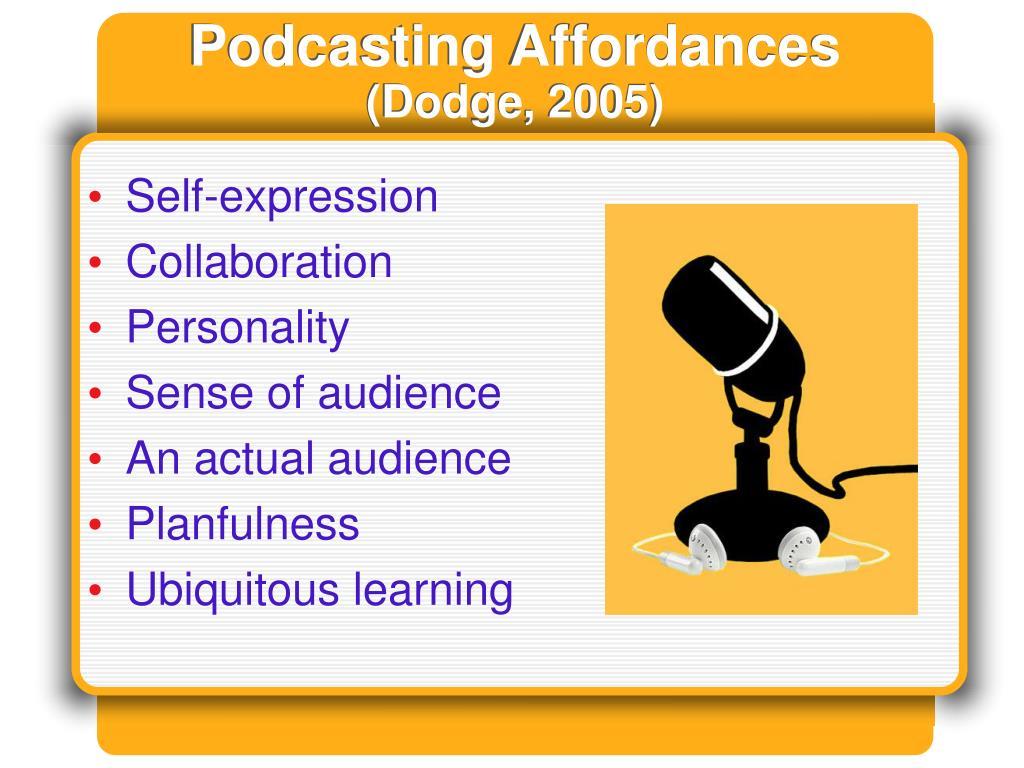 Podcasting Affordances