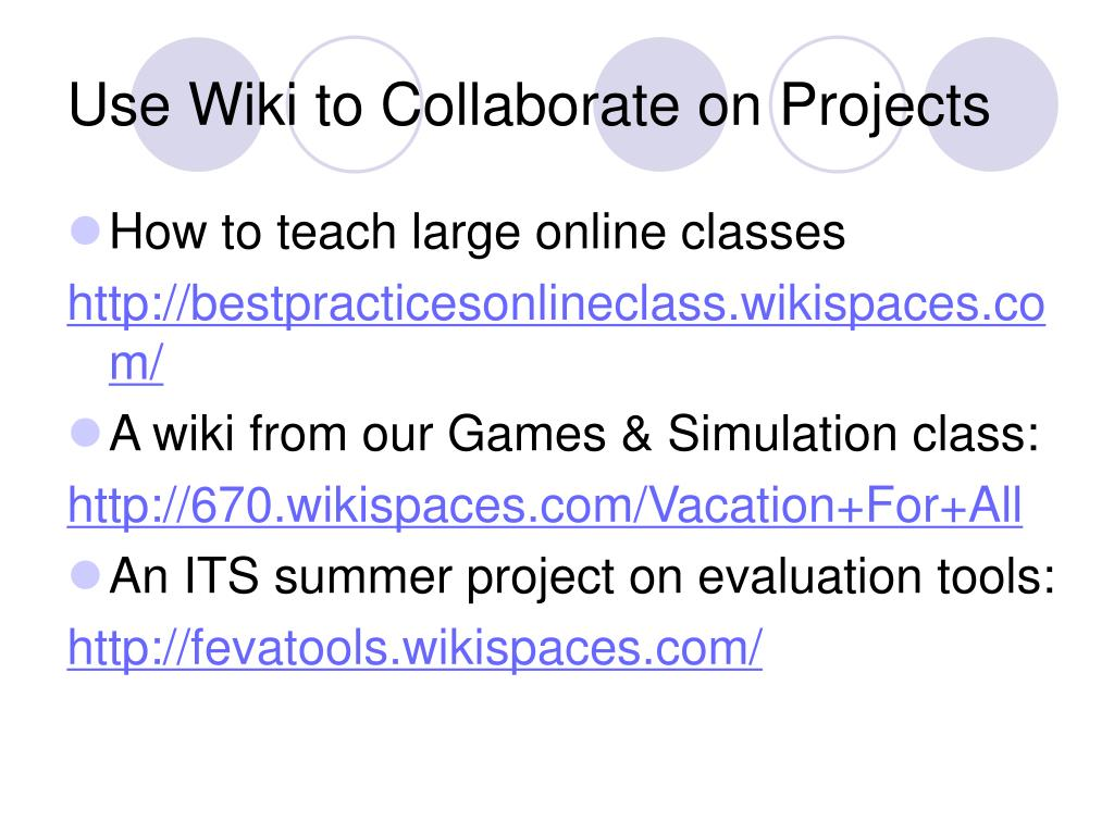 Use Wiki to Collaborate on Projects