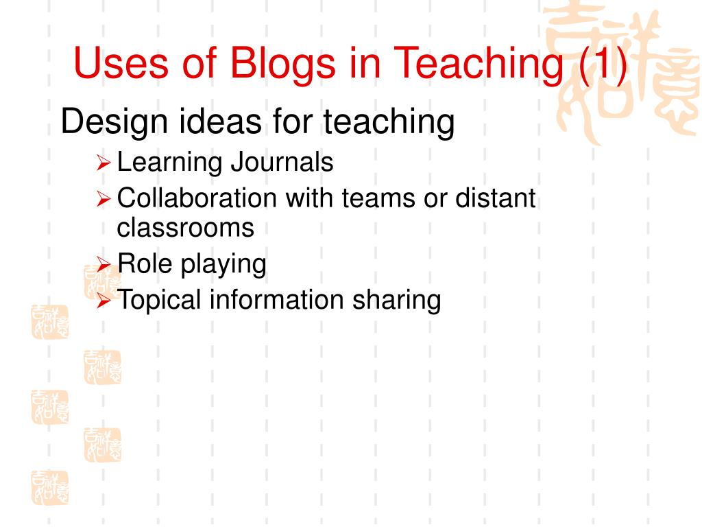 Uses of Blogs in Teaching (1)