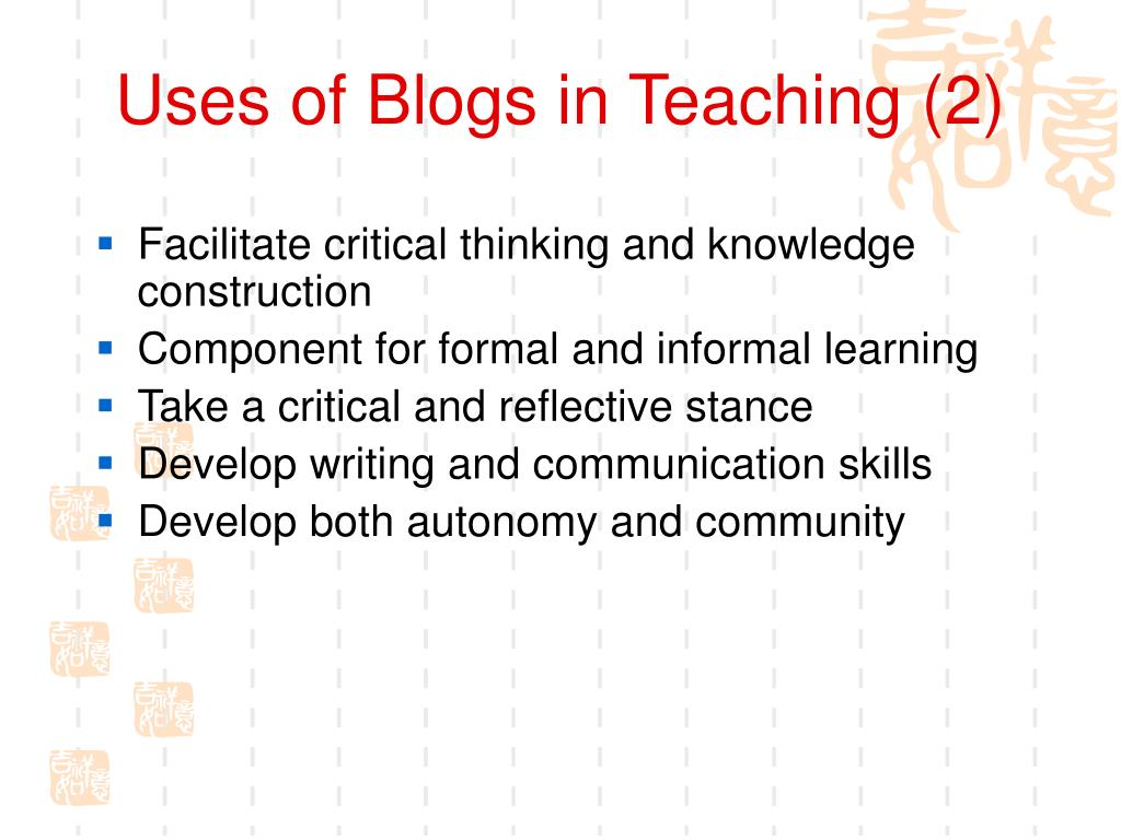 Uses of Blogs in Teaching (2)