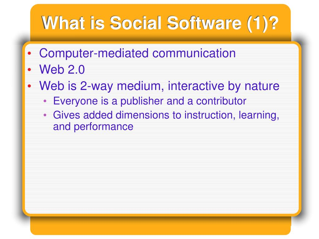 What is Social Software (1)?