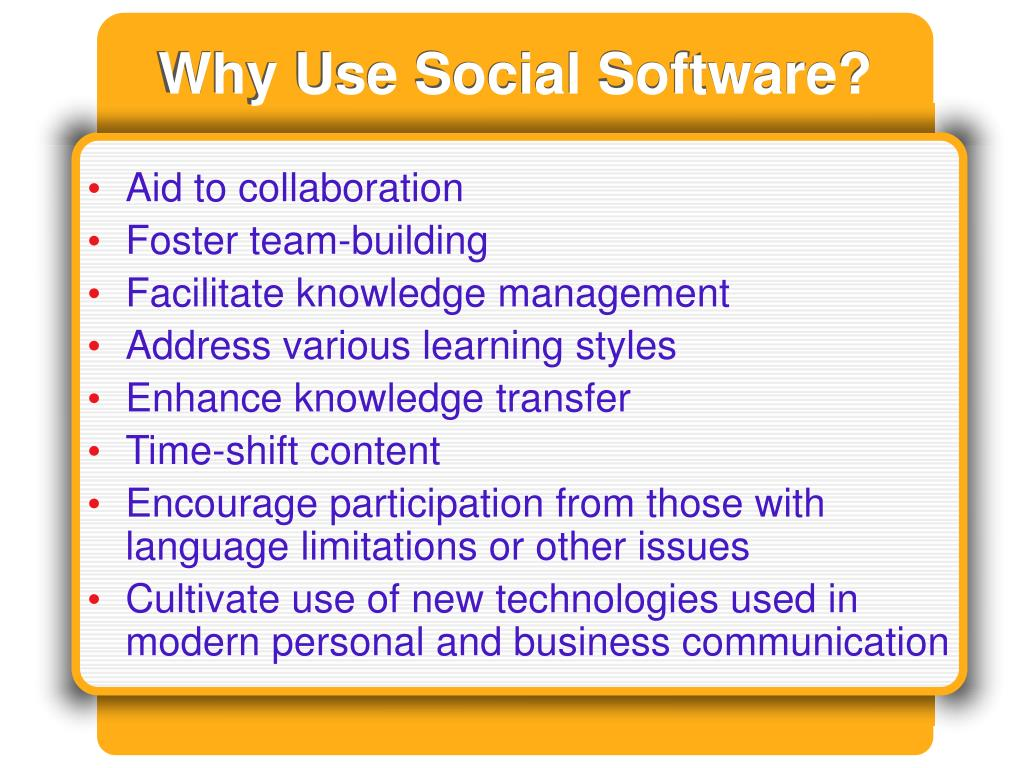 Why Use Social Software?
