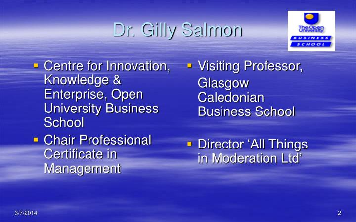 Dr gilly salmon