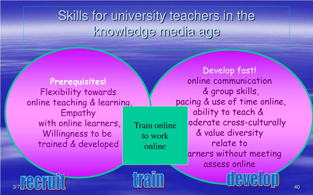 Skills for university teachers in the knowledge media age