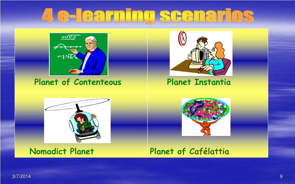 4 e-learning scenarios