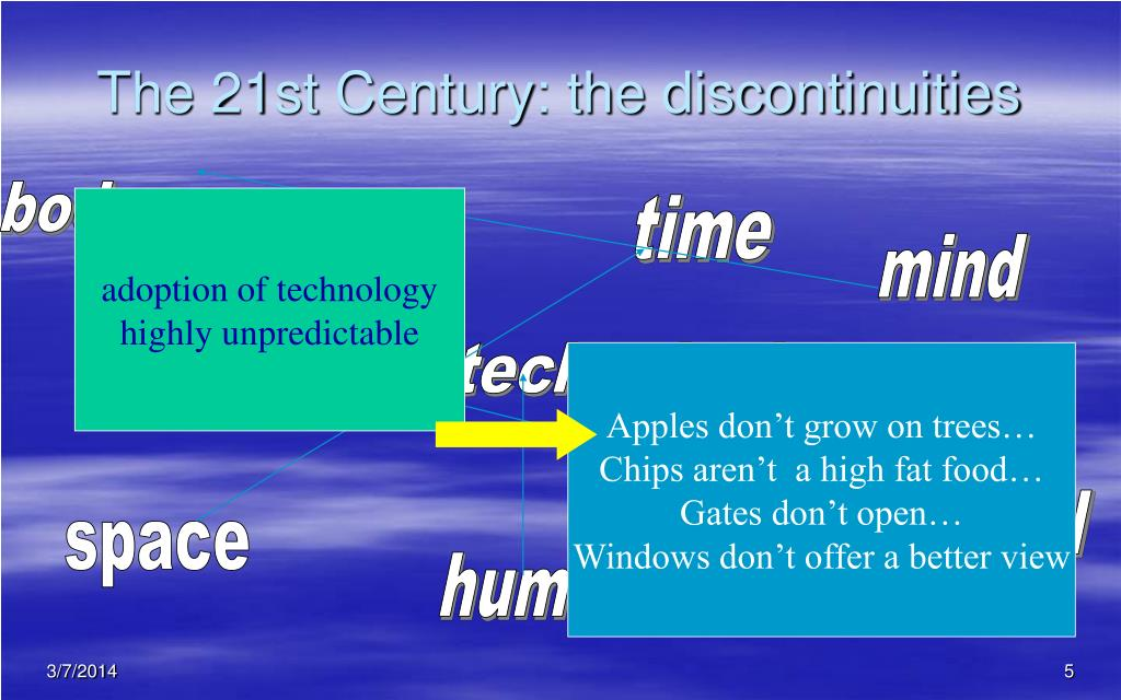 The 21st Century: the discontinuities