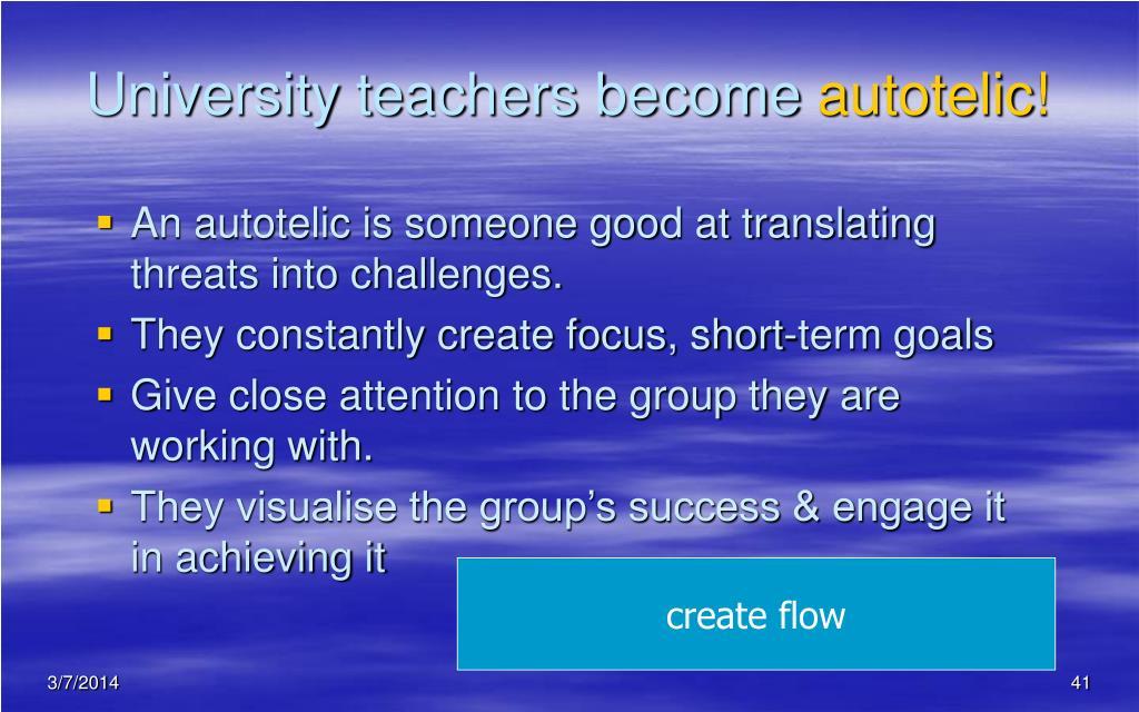 University teachers become