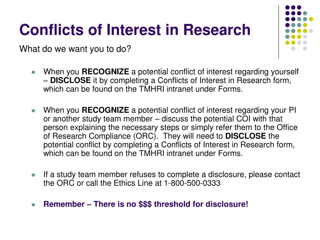 conflict of interest in research papers Please see below for information regarding conflicts of interest: what is a 'conflict of information before the paper is of excellence in research.