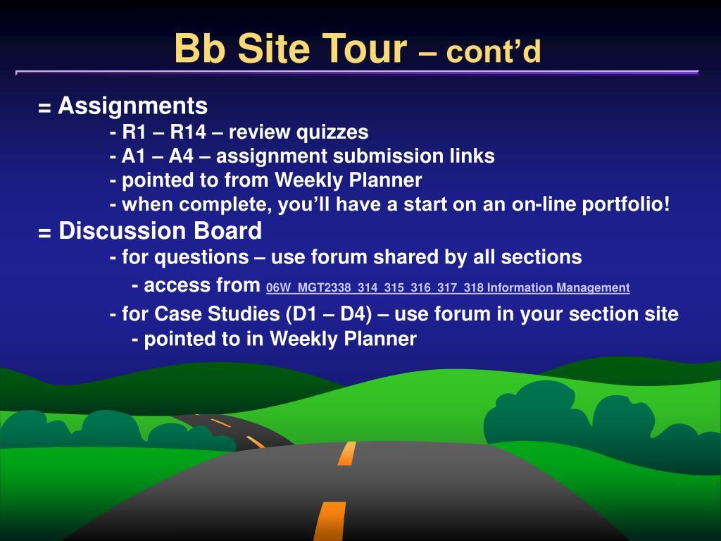 Bb Site Tour