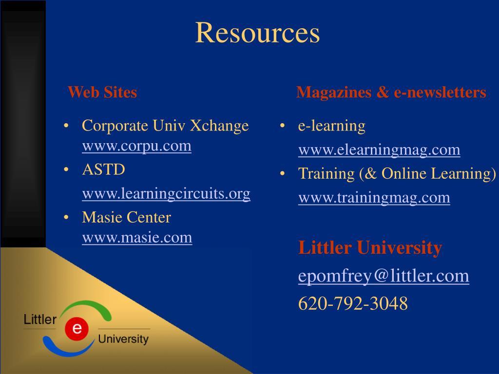 Corporate Univ Xchange