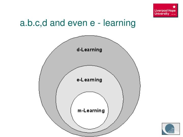 a.b.c,d and even e - learning