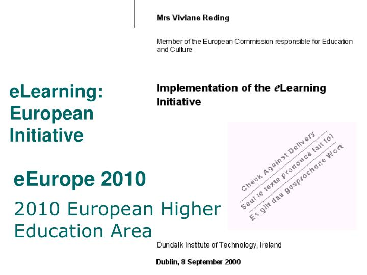 eLearning: European Initiative