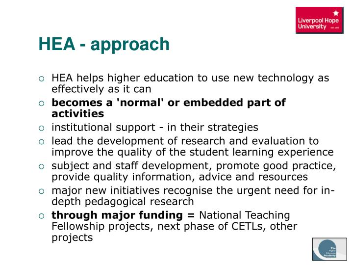 HEA - approach